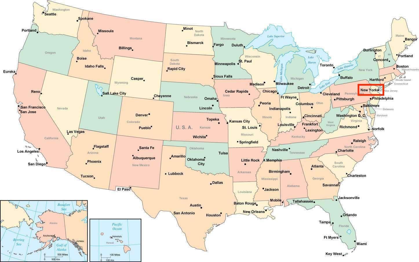 نيويورك خريطة الولايات المتحدة Kharita Blog